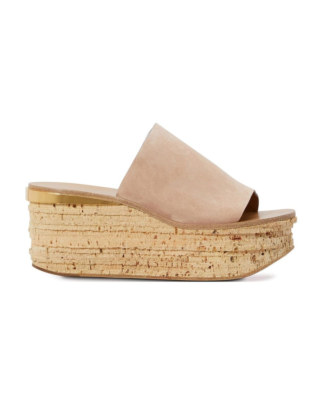 Chloé Camille Wedge Mules in Brown - Save 43% | Lyst