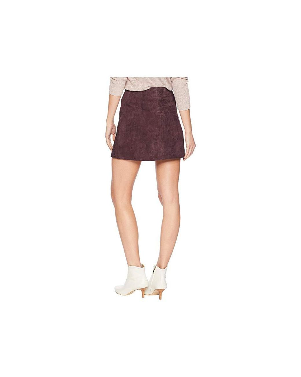 59da22b32c Blank NYC Real Suede Mini Skirt With Zipper Detail In Blackberry  (blackberry) Skirt in Purple - Save 19% - Lyst