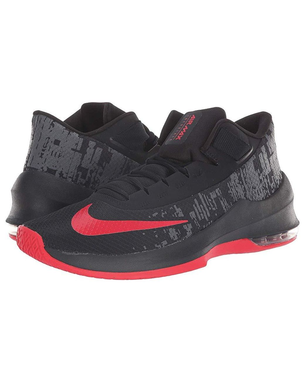 4b317e392925e Nike Air Max Infuriate 2 Mid (black/university Red/anthracite) Basketball  Shoes in Black for Men - Save 30% - Lyst