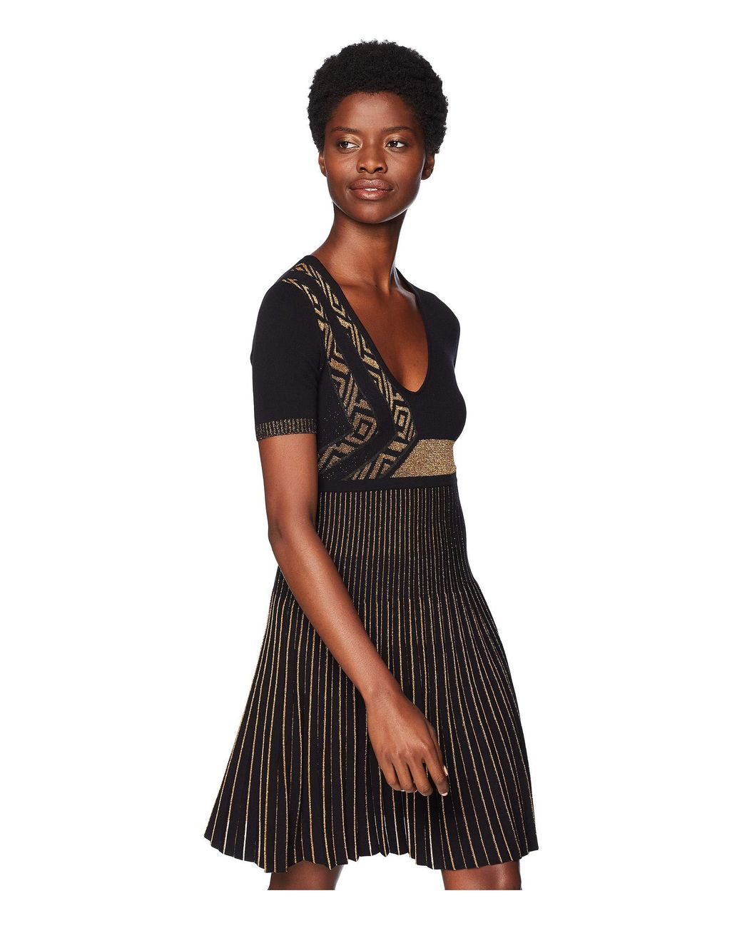 58d24594d511 Versace Abito Maglia Donna in Black - Save 64% - Lyst