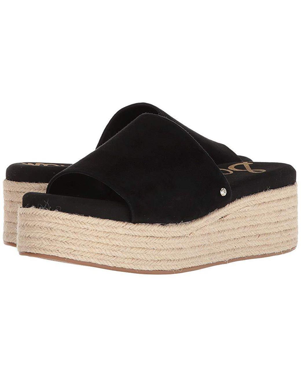 af9ea6ed18 Sam Edelman Weslee (black Kid Suede Leather) Sandals in Black - Save ...