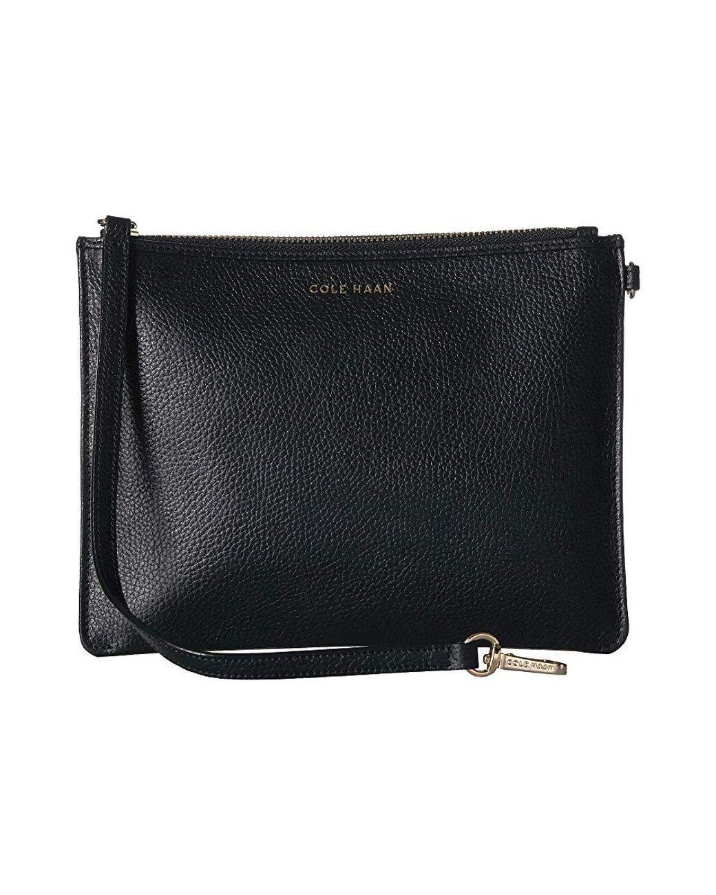 85ea6fe1607 Cole Haan Benson Wristlet Pouch (black) Handbags in Black - Lyst