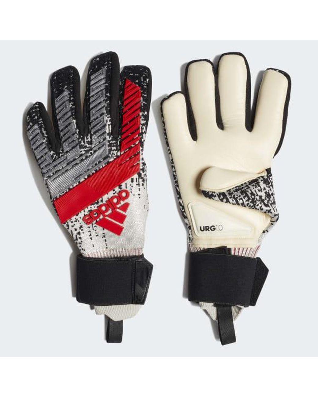 designer fashion cheap prices sale uk adidas Synthetic Predator Pro Gloves in Silver (Metallic ...