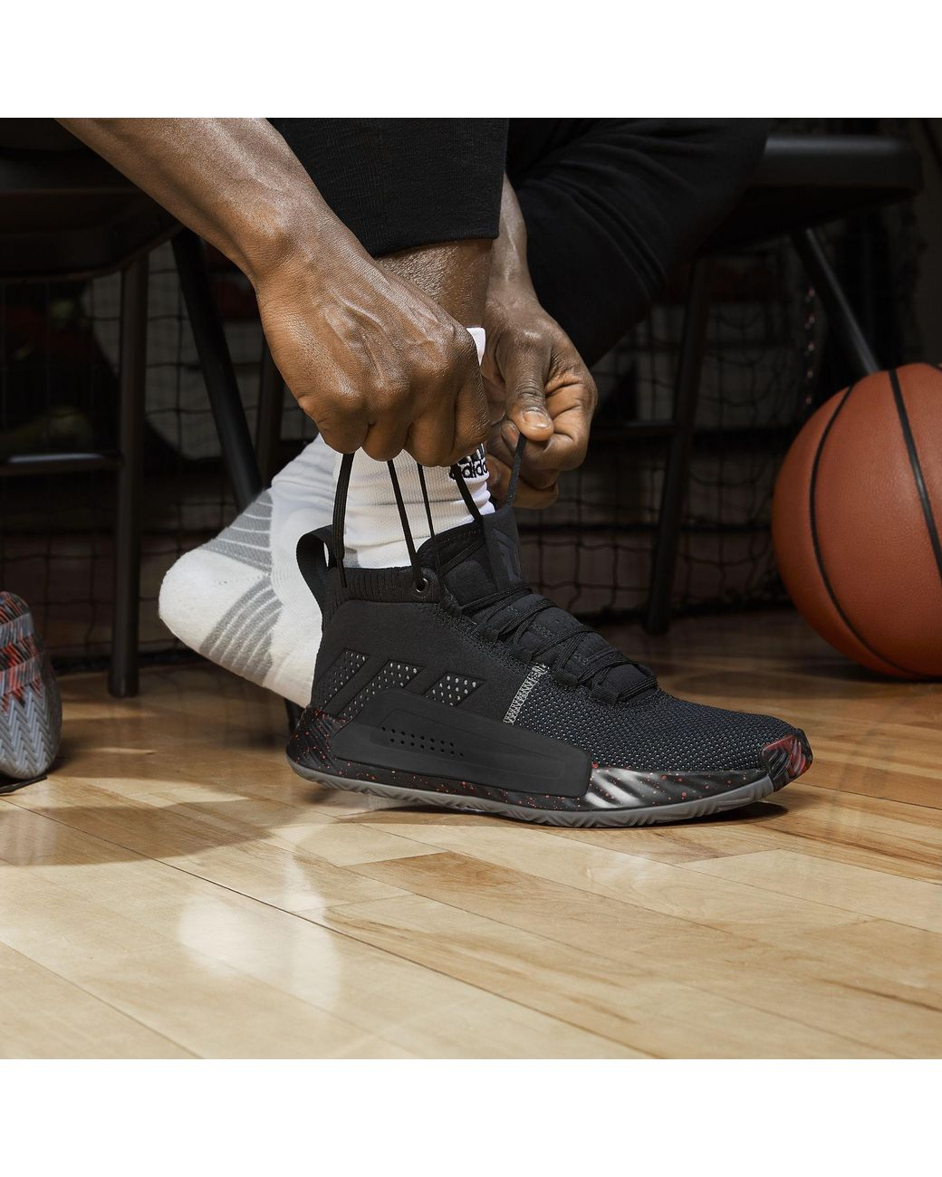 info for ff2eb c3fc8 adidas Dame 5 Shoes in Black for Men - Lyst