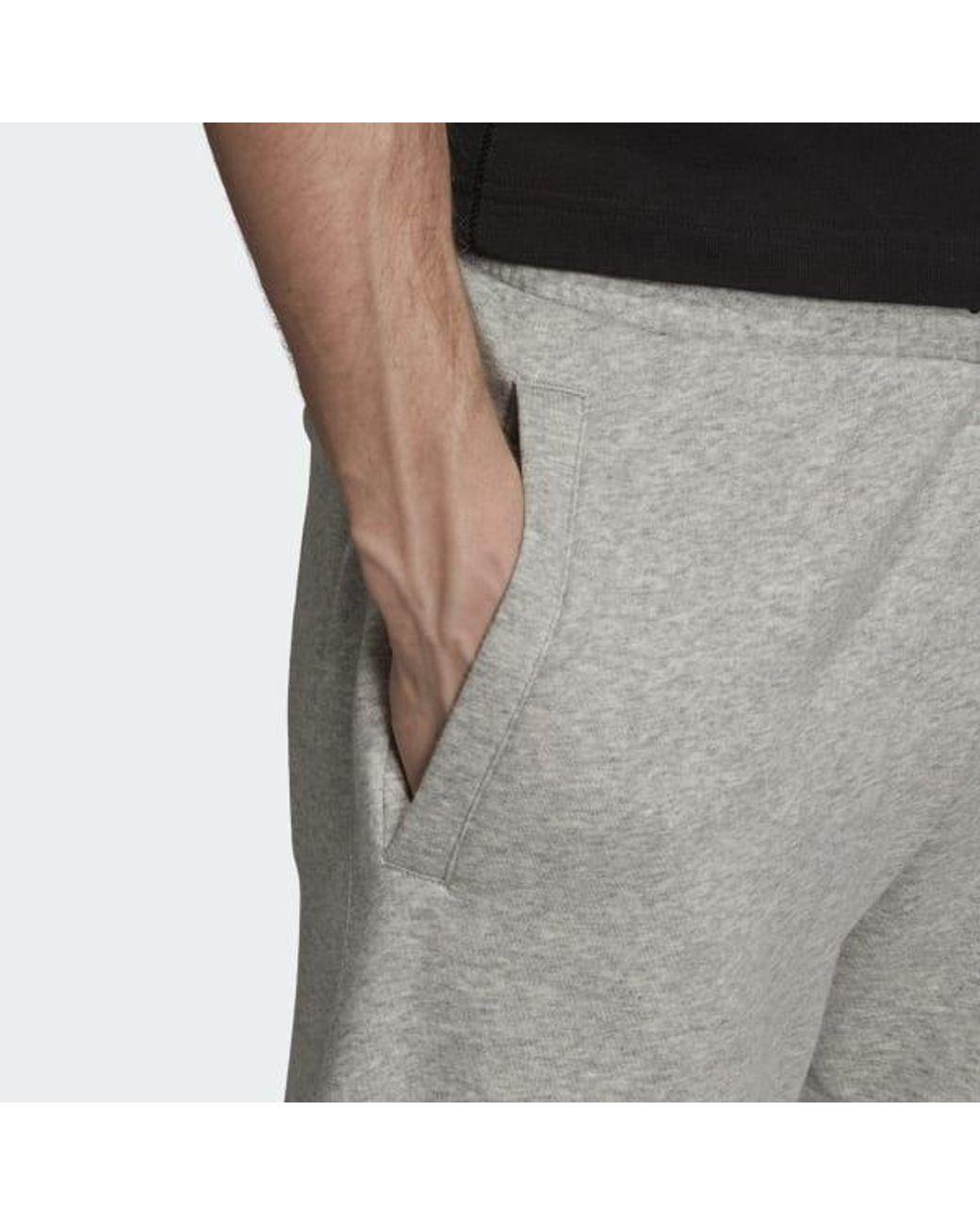 adidas Fleece Athletics Pack Graphic Sweat Pants in Grey