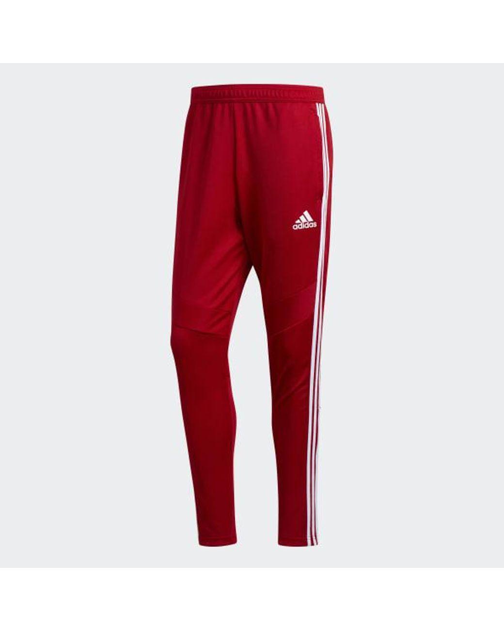 på fötter bilder av separationsskor trevligt billigt adidas Synthetic Tiro 19 Training Pants in Red for Men - Lyst