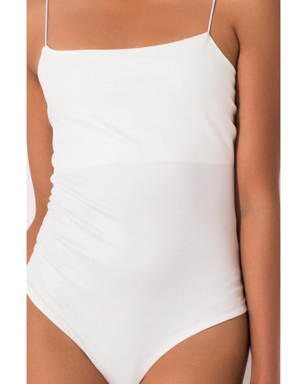 AKIRA Womens Wet Look Vinyl Pleather Latex Scoop Neck Thong Bodysuit Leotard