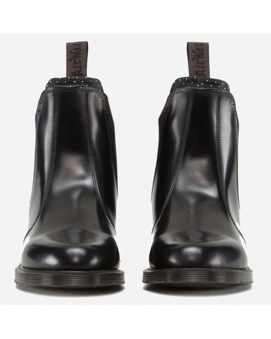 Leather Black Flora DrMartens Polished Smooth Chelsea Lyst Boots In KJT5uF1lc3