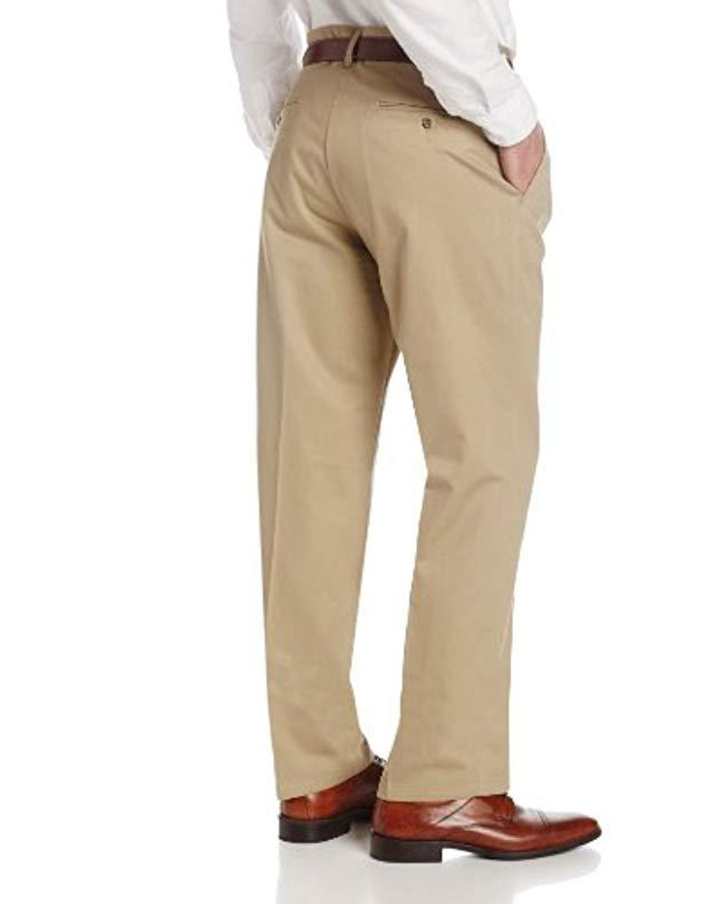 Lee Mens No Iron Relaxed Fit Pleated Pant