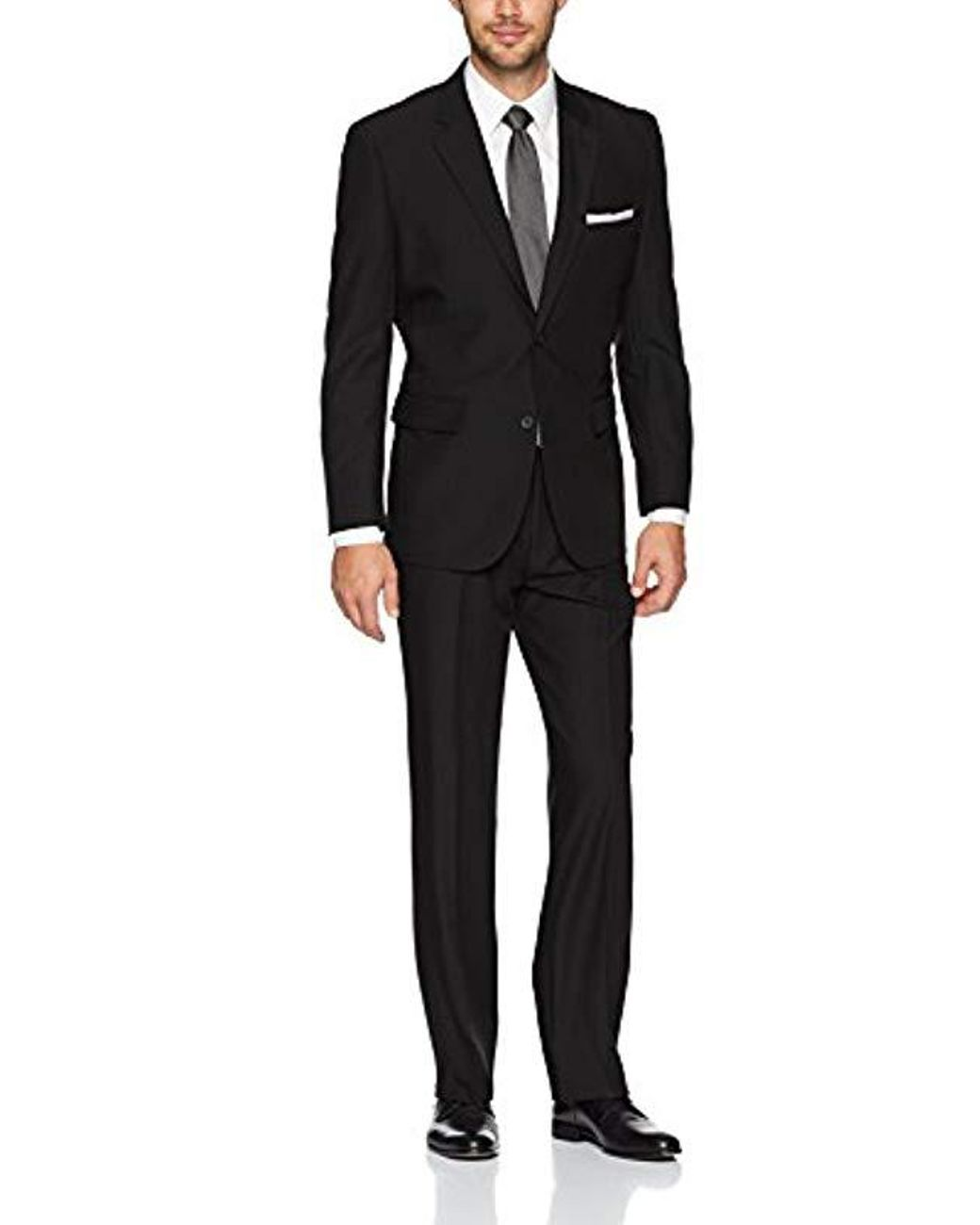10b760ed68cf3 Men's Black Bi-stretch Slim Fit Suit