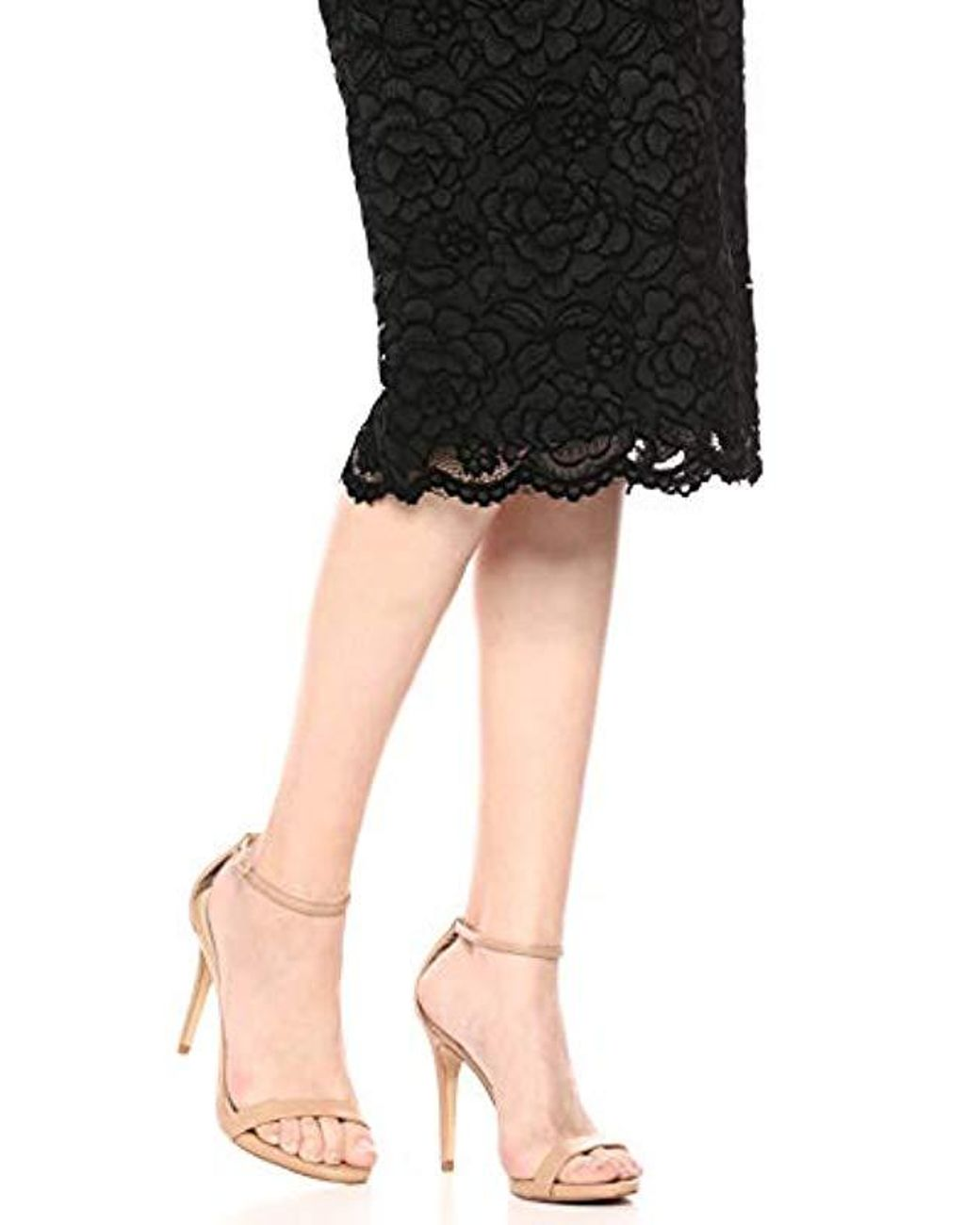 e1f2f10958e6d Dress the Population Claire Strapless Sequin Midi Sheath in Black - Lyst