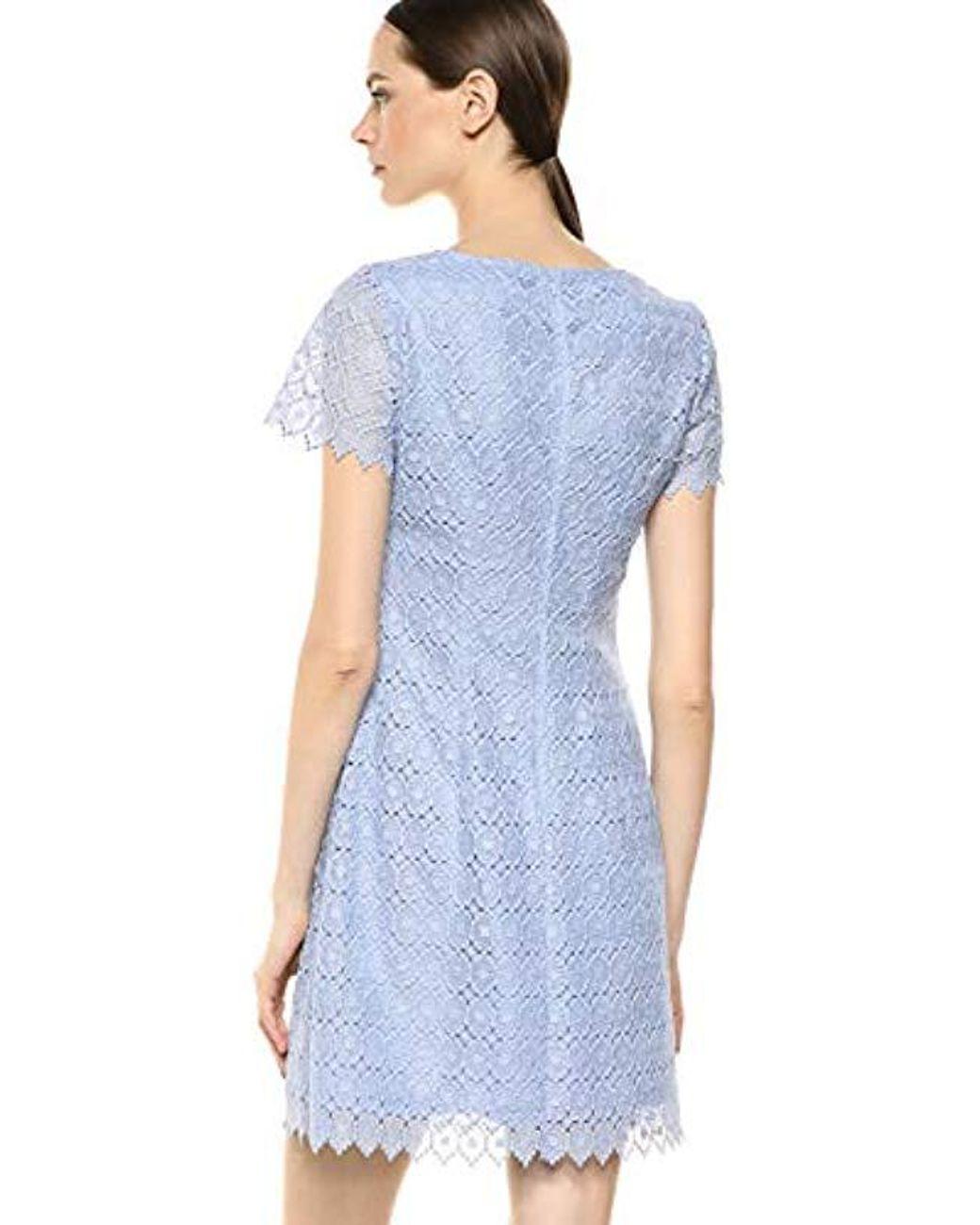 Womens Blue Emmy Lace A Line Dress