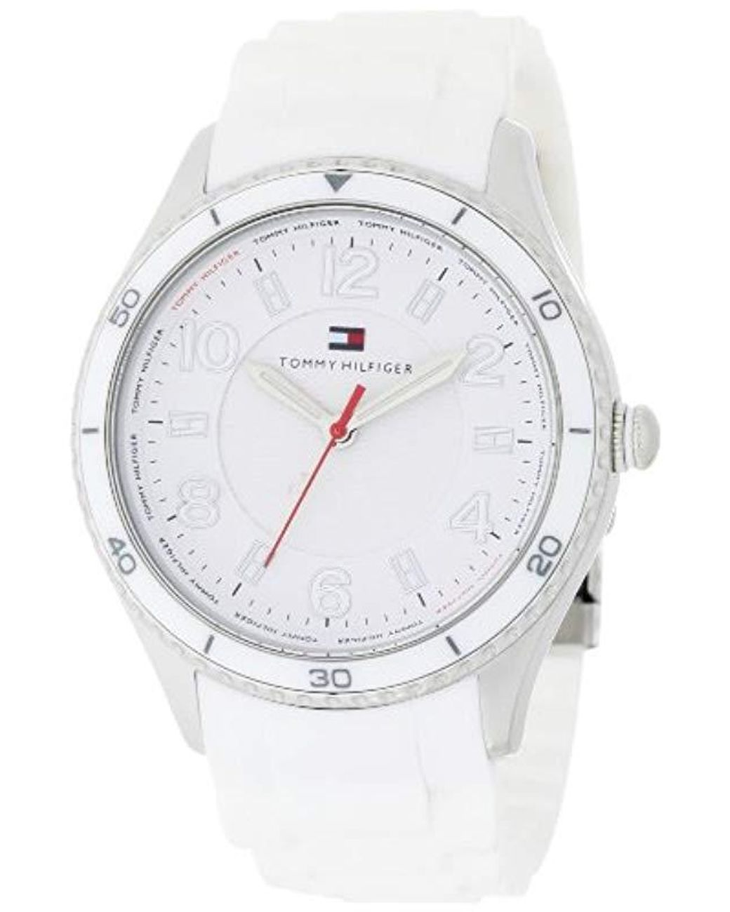 54cd31a65 Lyst - Tommy Hilfiger 1781058 Sport White Silicon With White Bezel ...