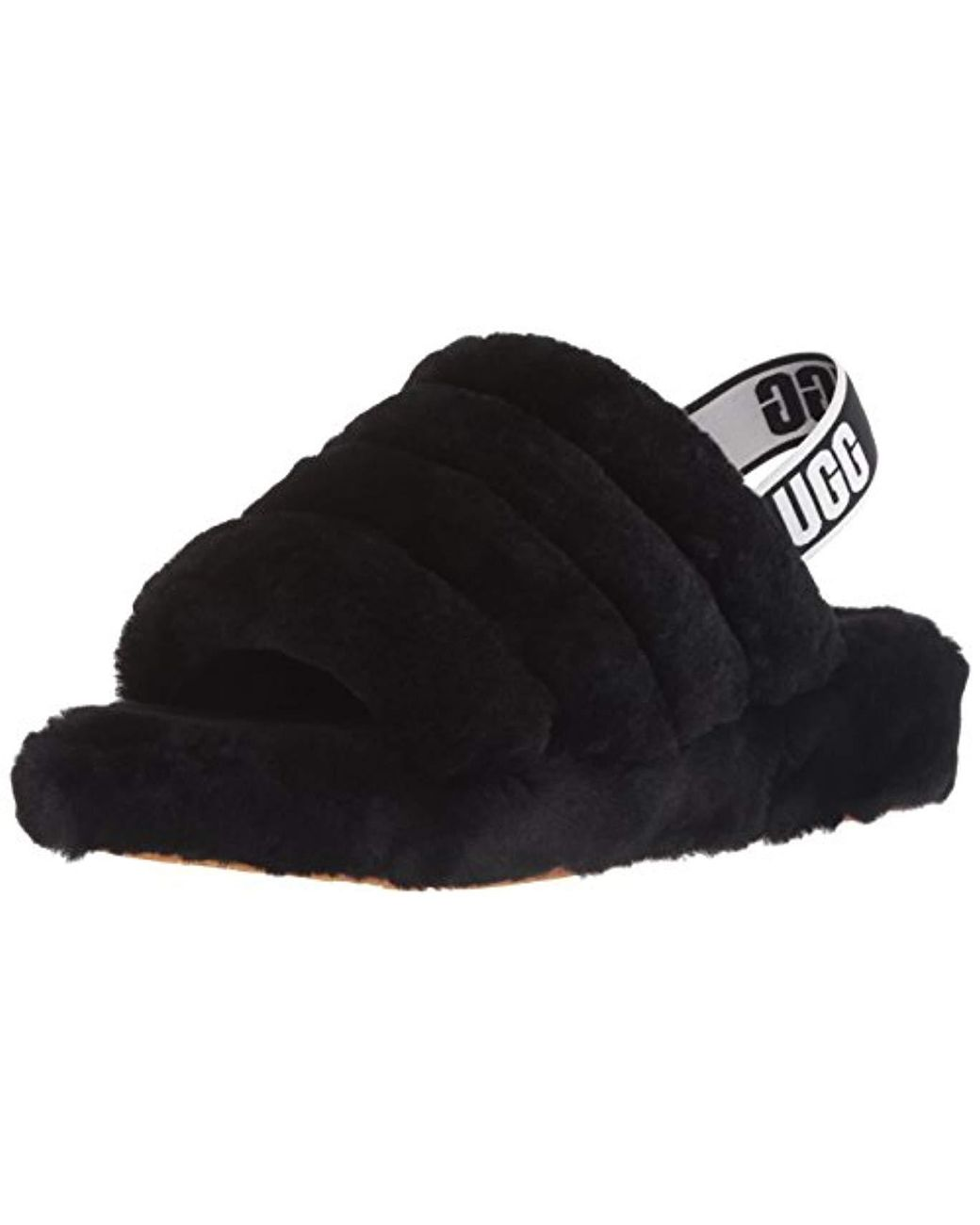 018a15f96 UGG Fluff Yeah Slide in Black - Save 38% - Lyst