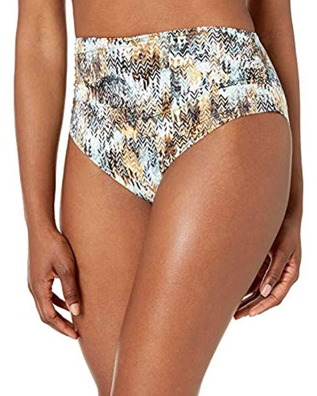 BCBGMAXAZRIA Womens Rouched Soft Band Hipster Solid Color Bikini Bottom