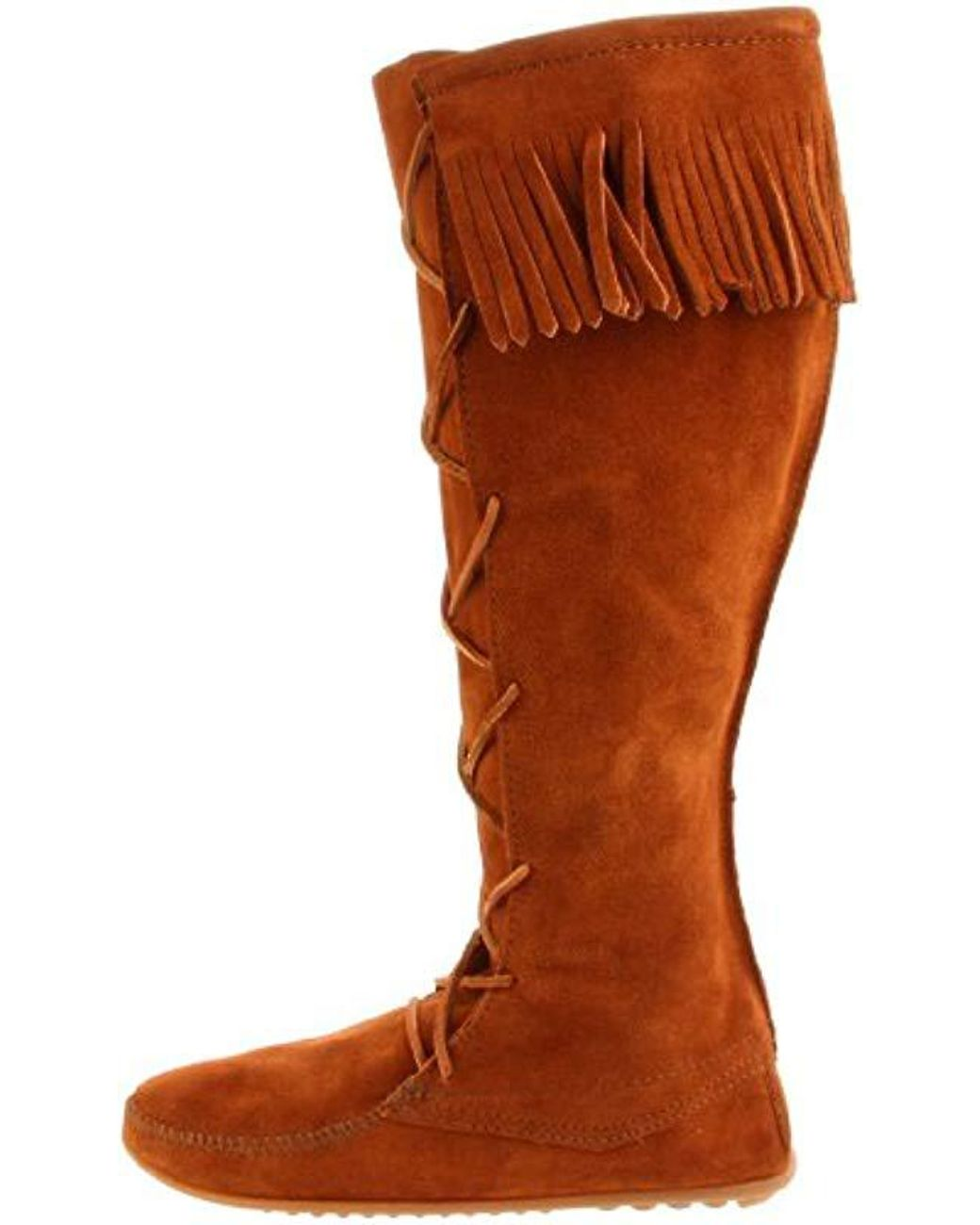 4634af4ec Minnetonka 1429 Front Lace Knee-high Boot in Brown - Save 19% - Lyst