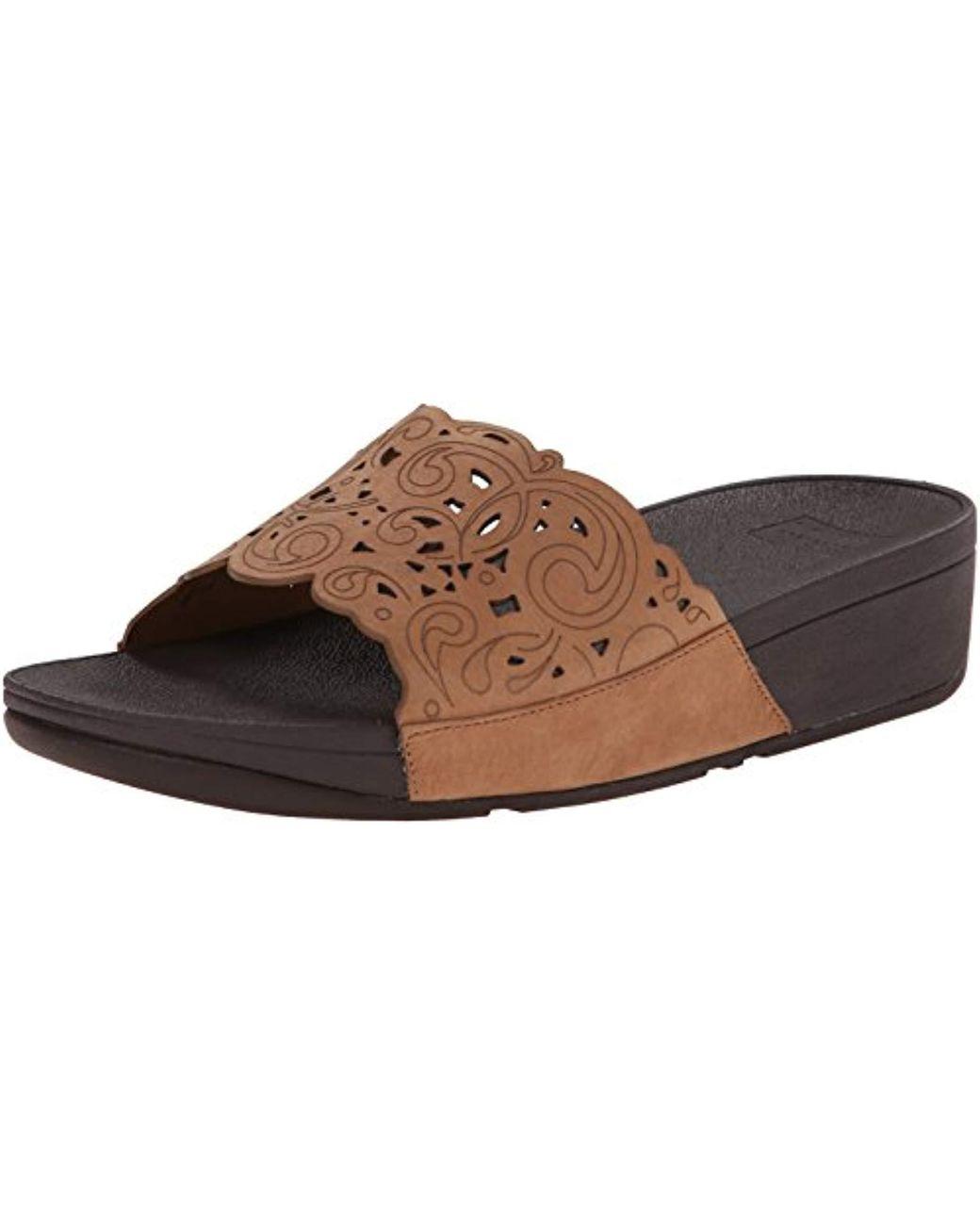 3f6978389 Lyst - Fitflop Flora Slide Sandal in Brown - Save 40%