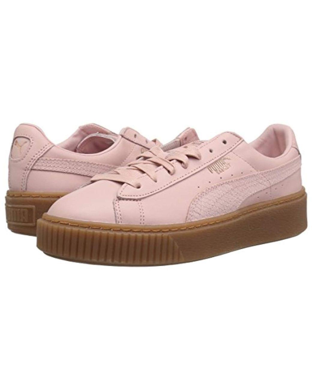 huge discount 4a3d7 4d4cf Women's Pink Basket Platform Euphoria Gum Sneaker