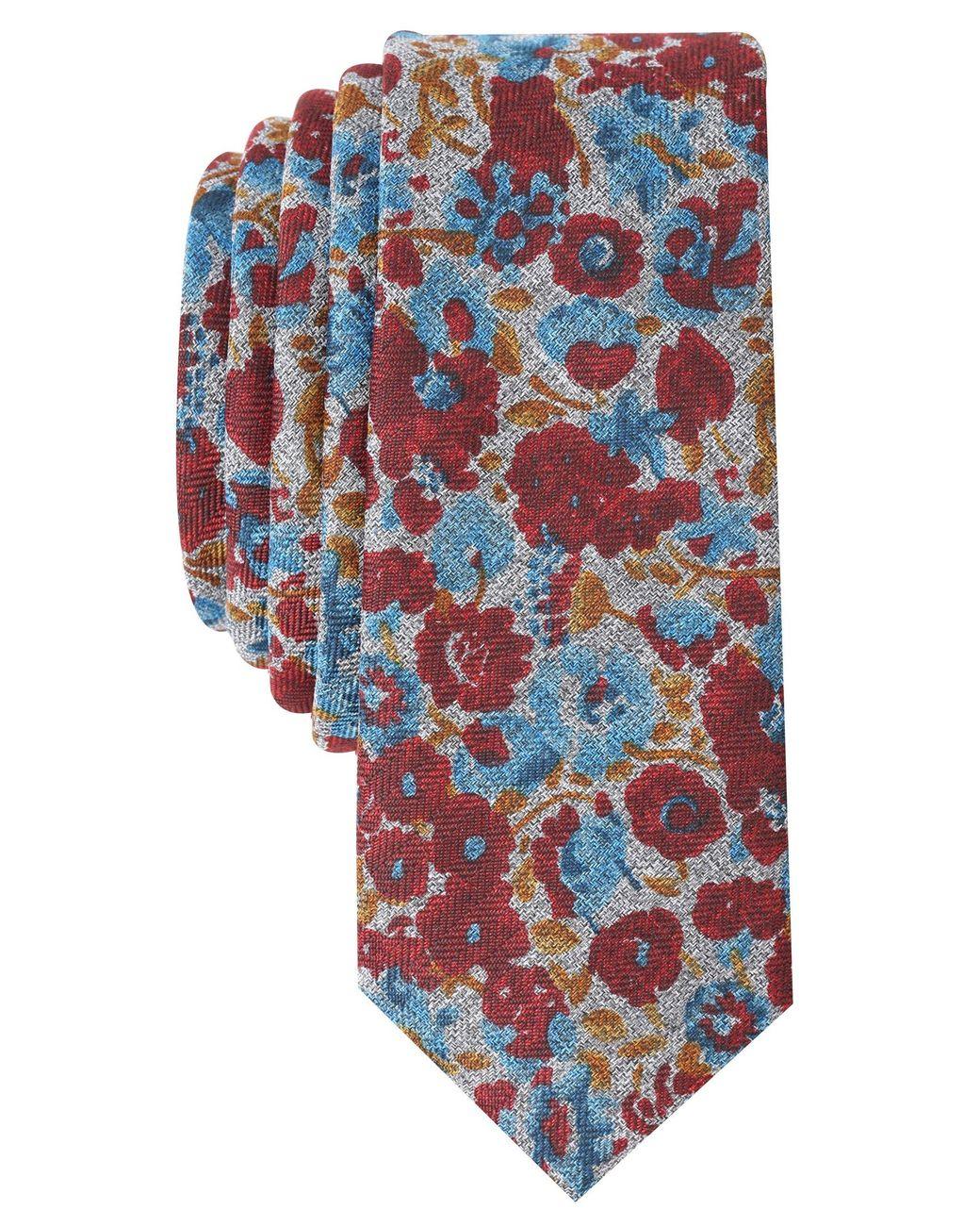 Original Penguin mens Lemongrass Floral Necktie