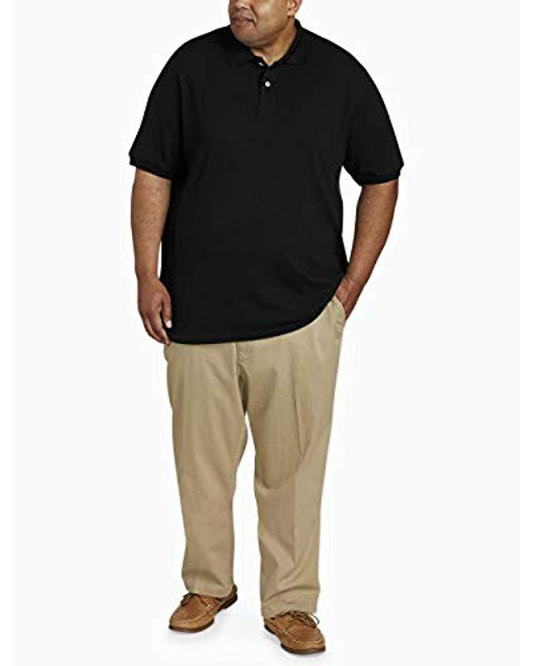 Essentials Mens Big /& Tall Cotton Pique Polo Shirt fit by DXL
