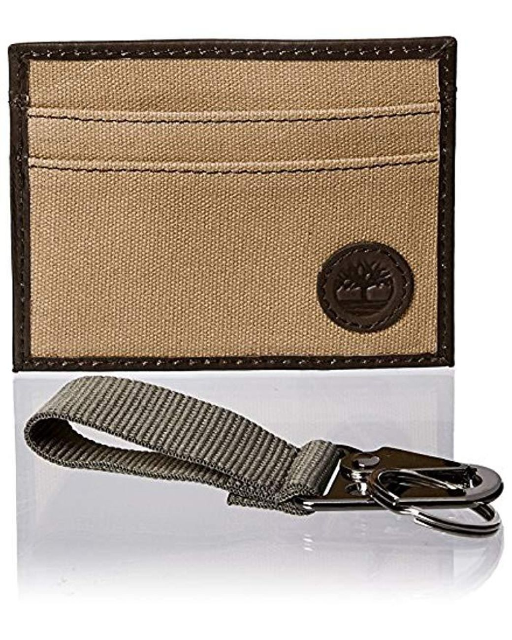 best service e883d 14484 Men's Canvas & Leather Card Case Gift Set