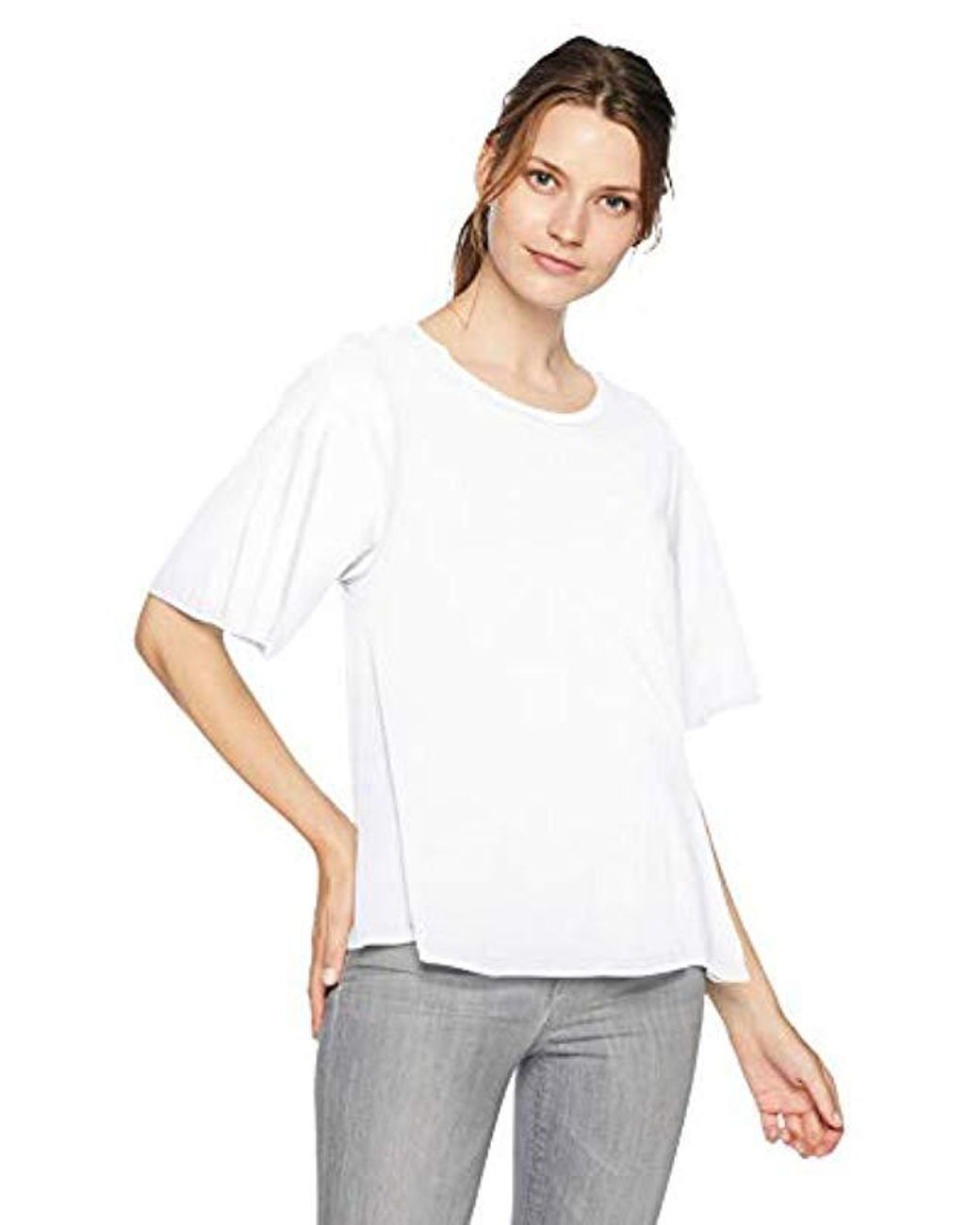 VELVET by GRAHAM /& SPENCER Ursula Linen Knit Tee Top Shirt Ivory Size M $94.00