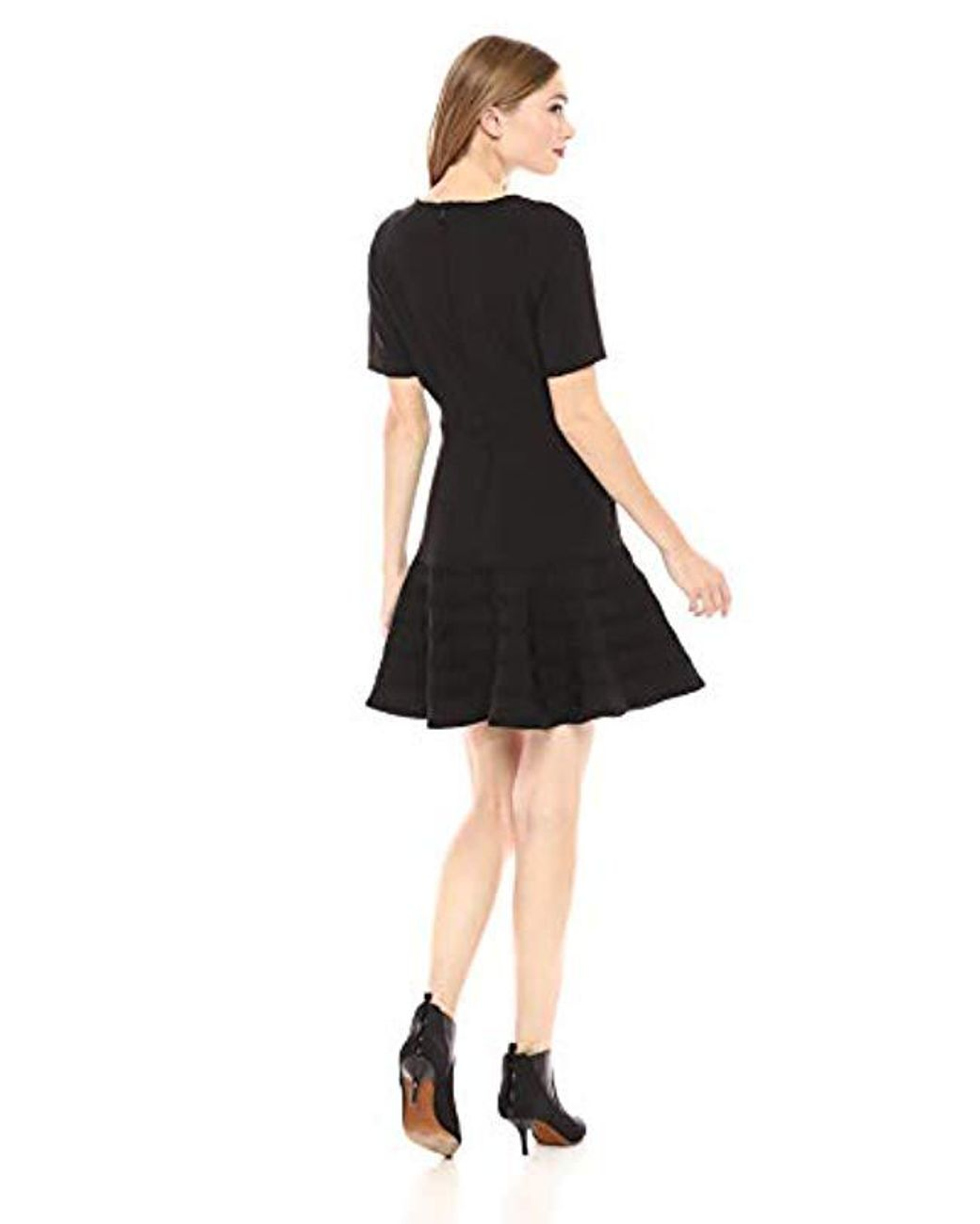 findersKEEPERS Womens Riviera Cap Sleeve Lace-up Ruffle Trim Short Dress