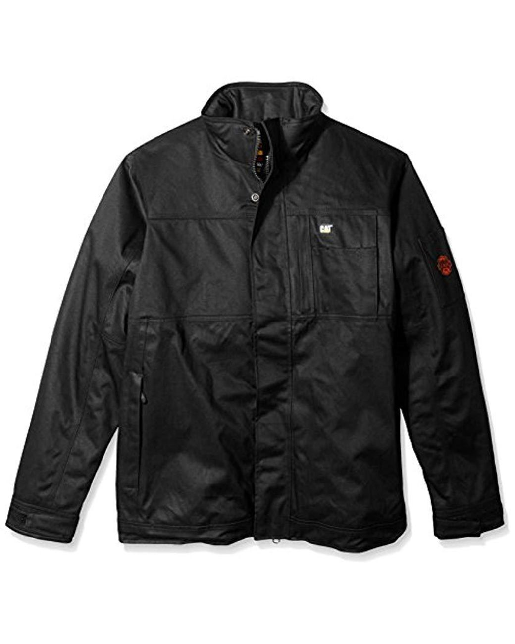 Mens Black Big And Tall Flame Resistant Insulated Jacket