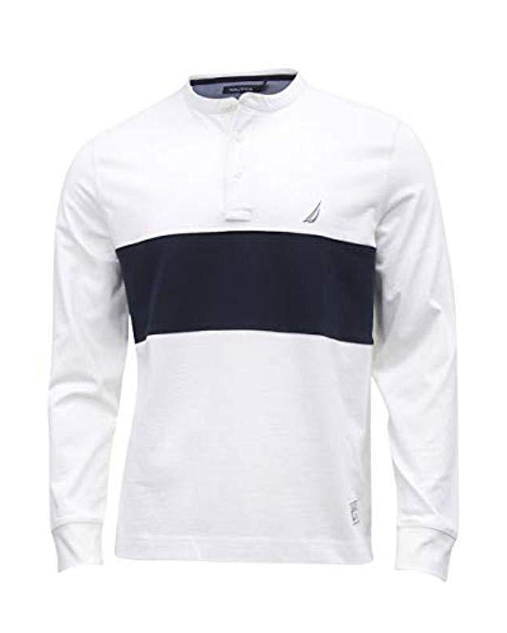 Perry Ellis Mens Shirt Medium Long Sleeve Henly Nightshirt