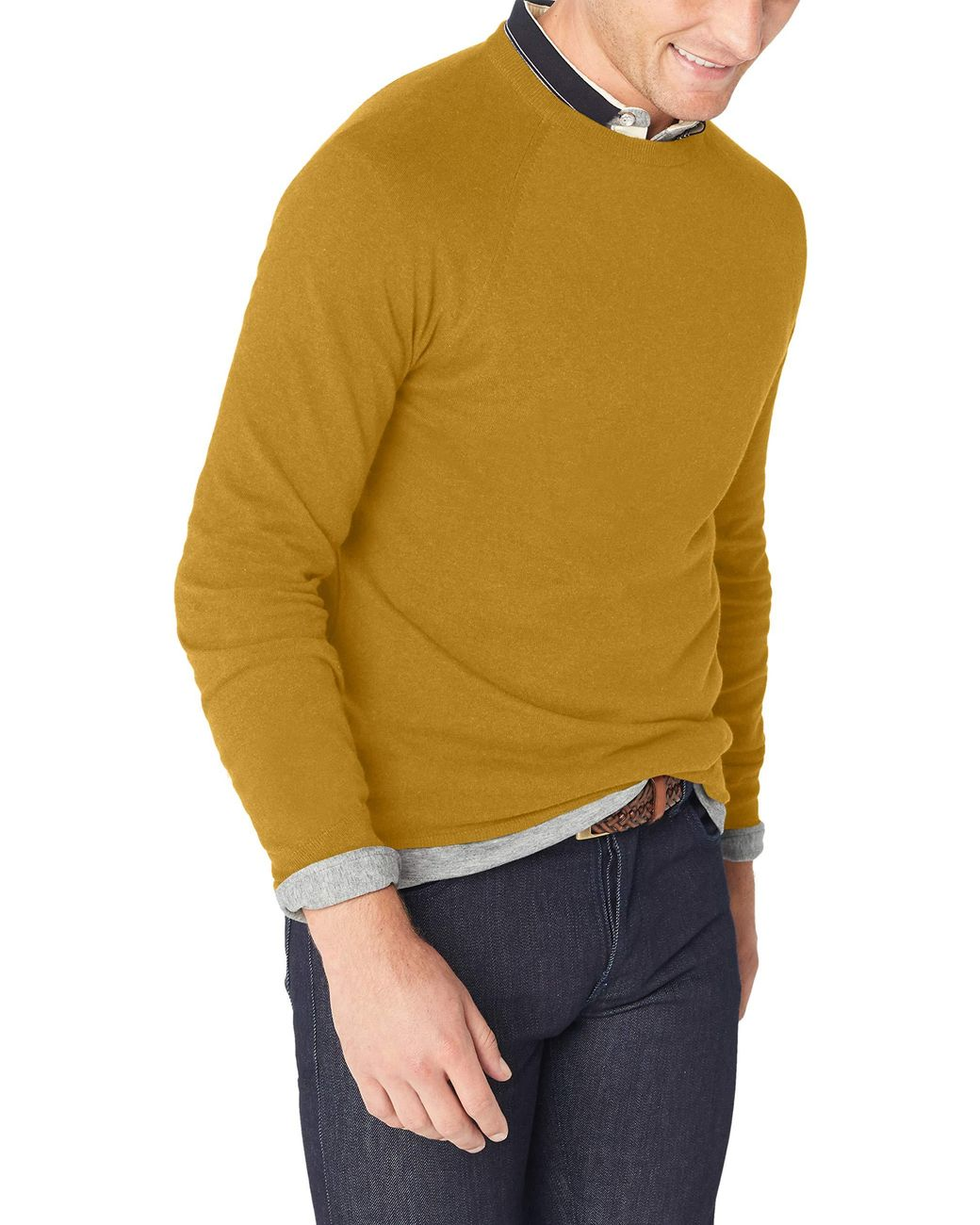 Long Sleeve Stretch Cotton Sweater
