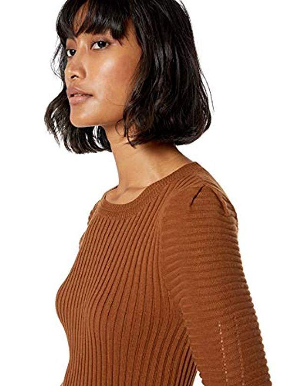 Ella Moss Womens Miranda Puff Short Sleeve Sweater