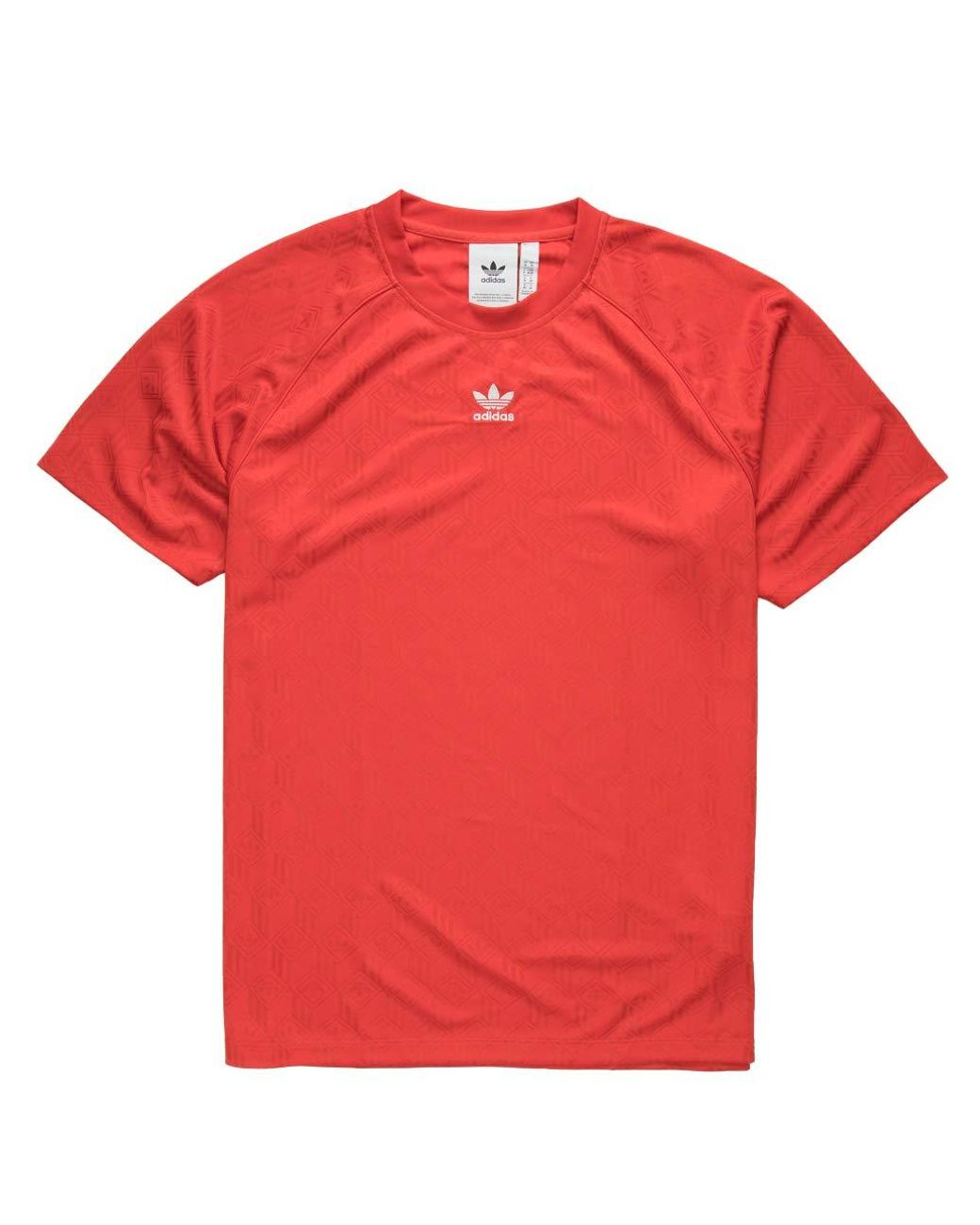 adidas Originals Mono Jersey Polo in Red for Men - Lyst