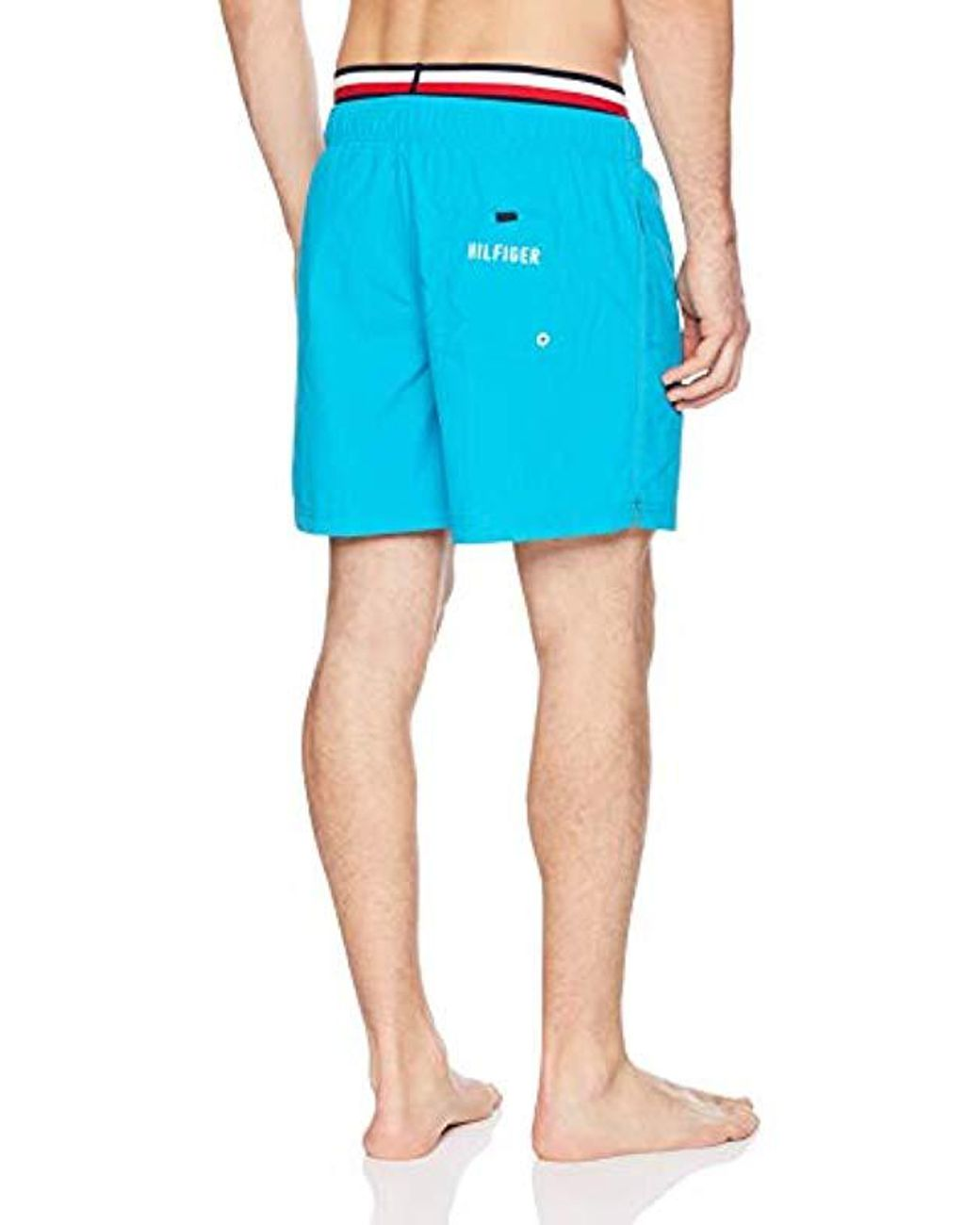 f464a0e40d Lyst - Tommy Hilfiger Swim Trunks Solid Mid Length Inseam in Blue for Men