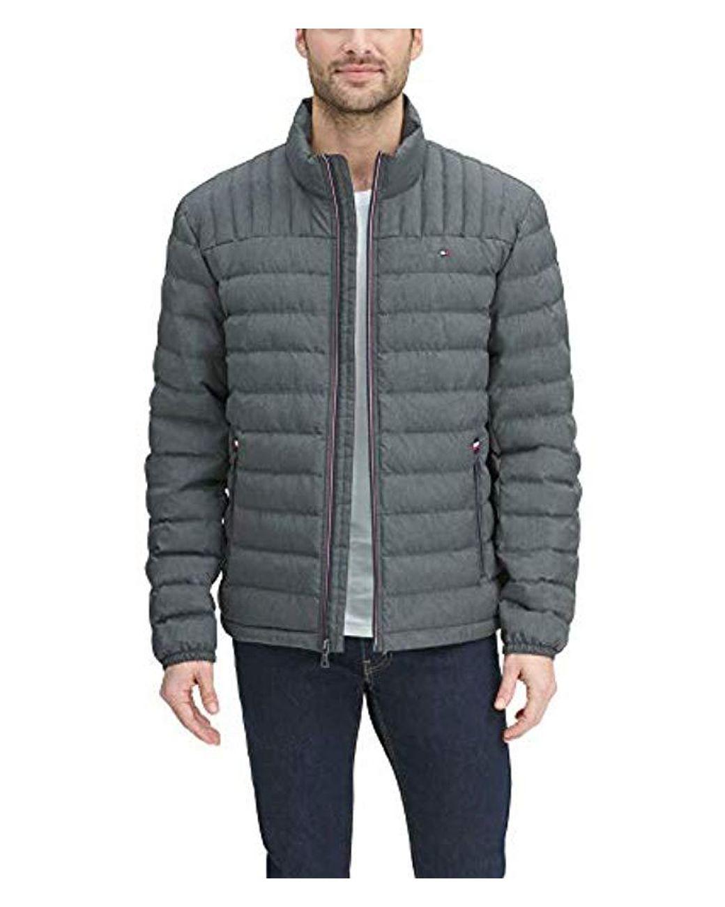 930d268c5 Men's Gray Ultra Loft Packable Puffer Jacket Down Down Alternative Coat