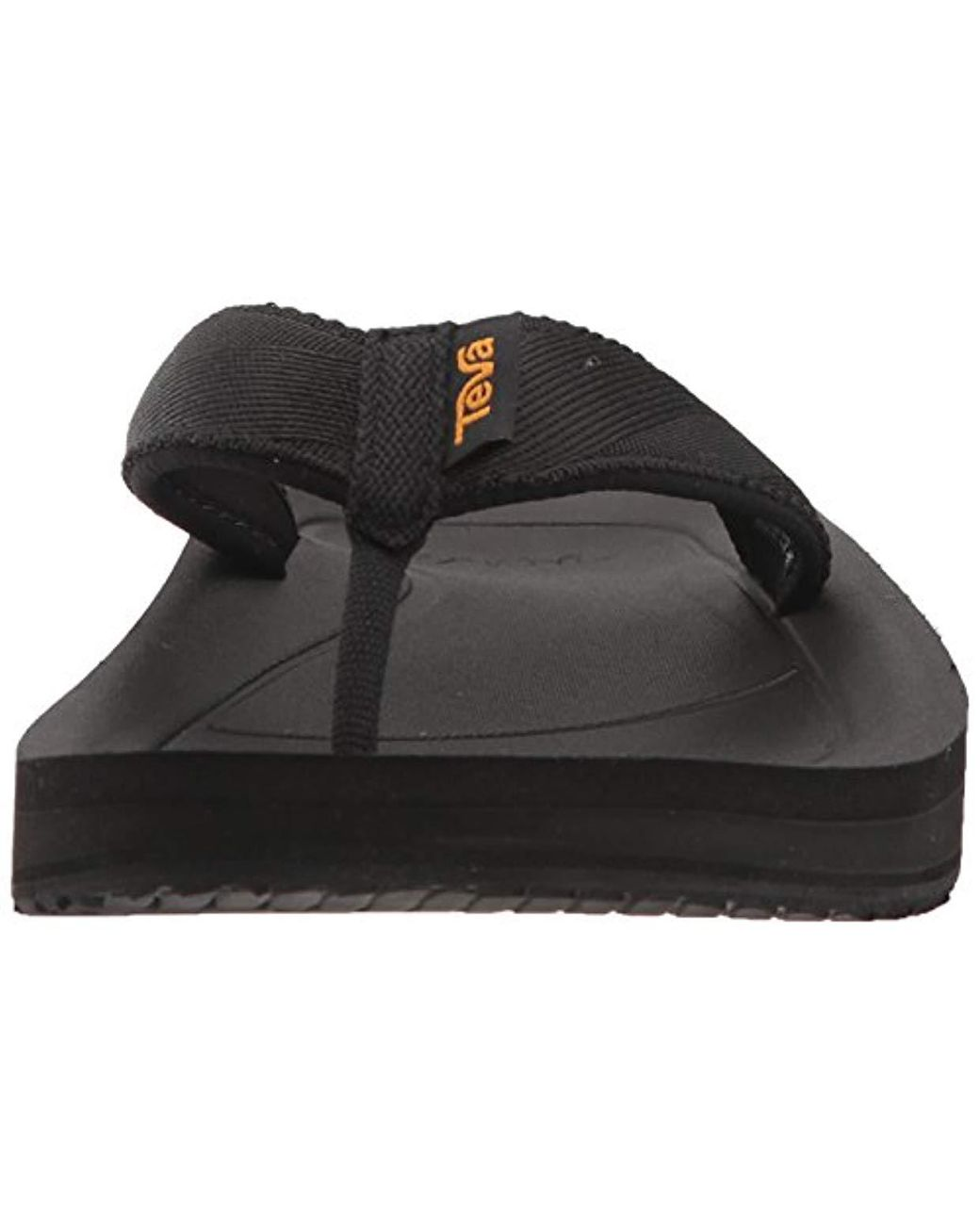 Men/'s Black TEVA Flip Premier Flip Flops