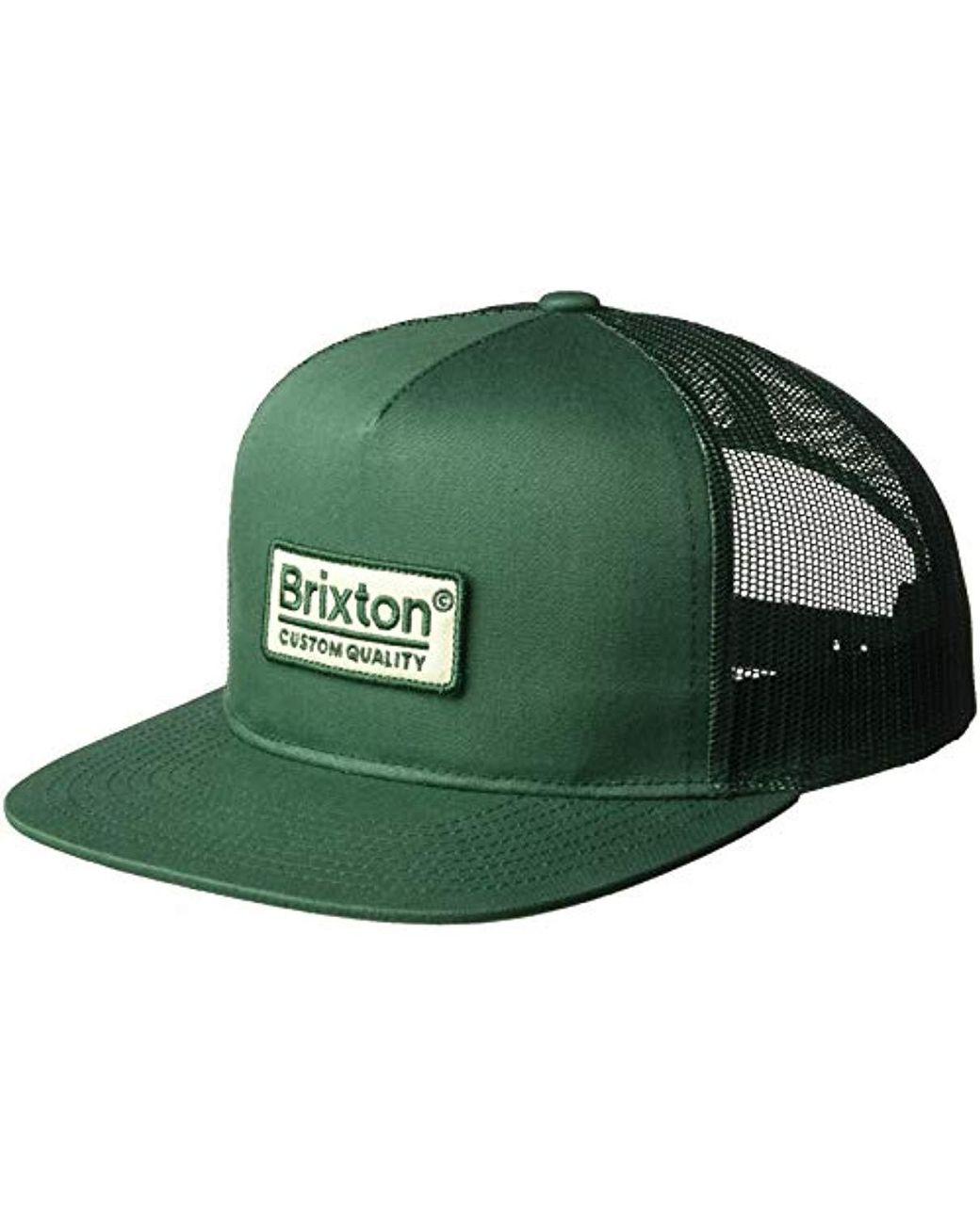 f379ff814241e Lyst - Brixton Palmer Medium Profile Adjustable Mesh Hat in Green for Men