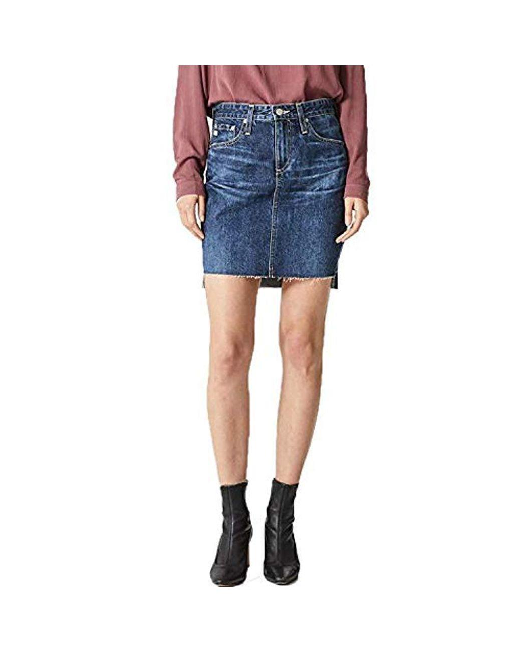 587822f731 Lyst - AG Jeans Erin Denim Pencil Skirt in Blue - Save 57%