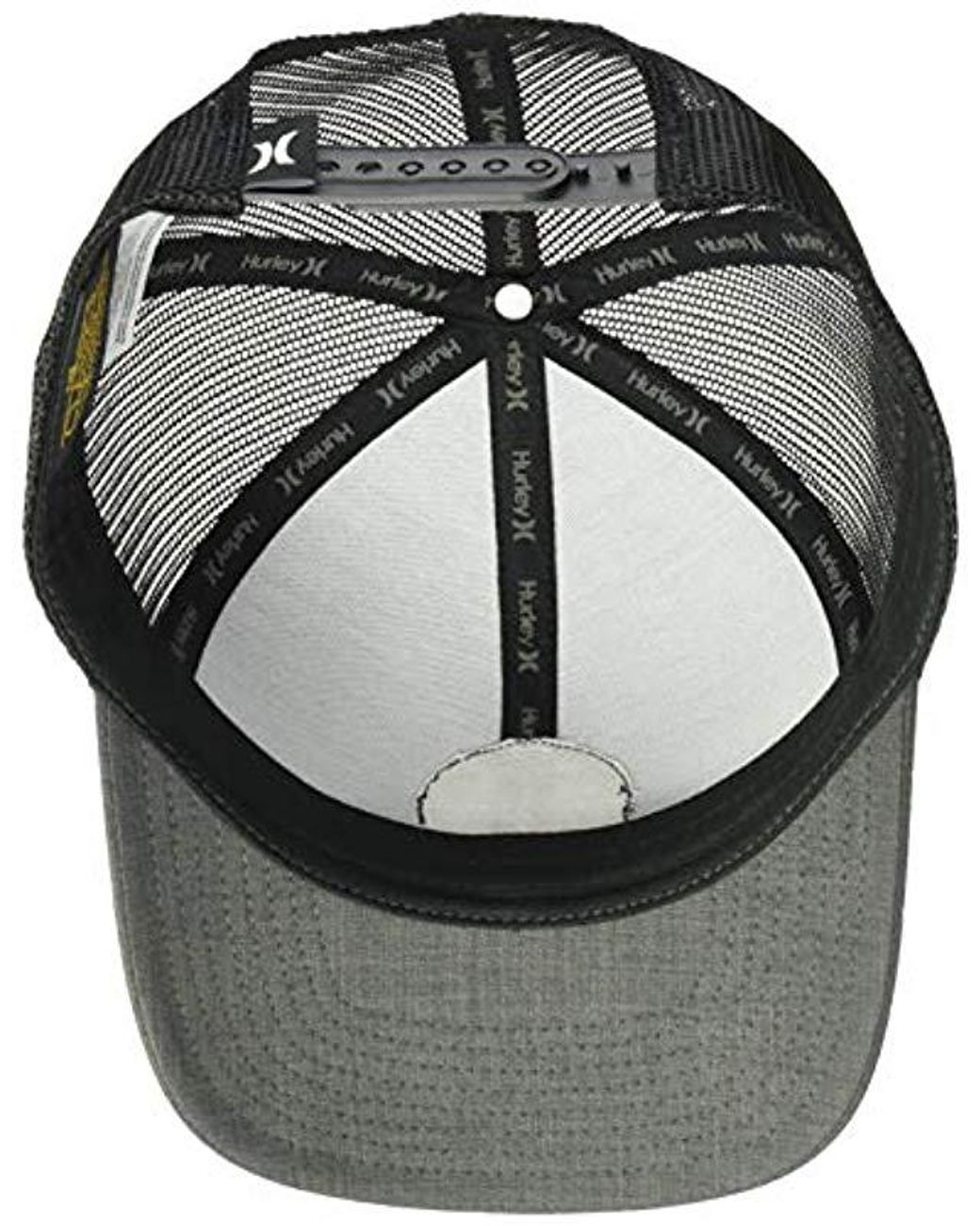 popular stores catch excellent quality Hurley Black Textures Patch Trucker Baseball Cap for Men - Save 10 ...