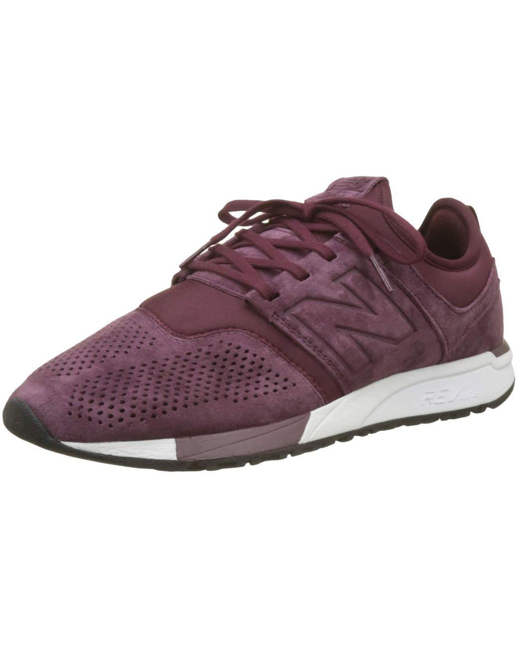New Balance Leather 247 V1 Sneaker in Burgundy (Purple) for Men ...
