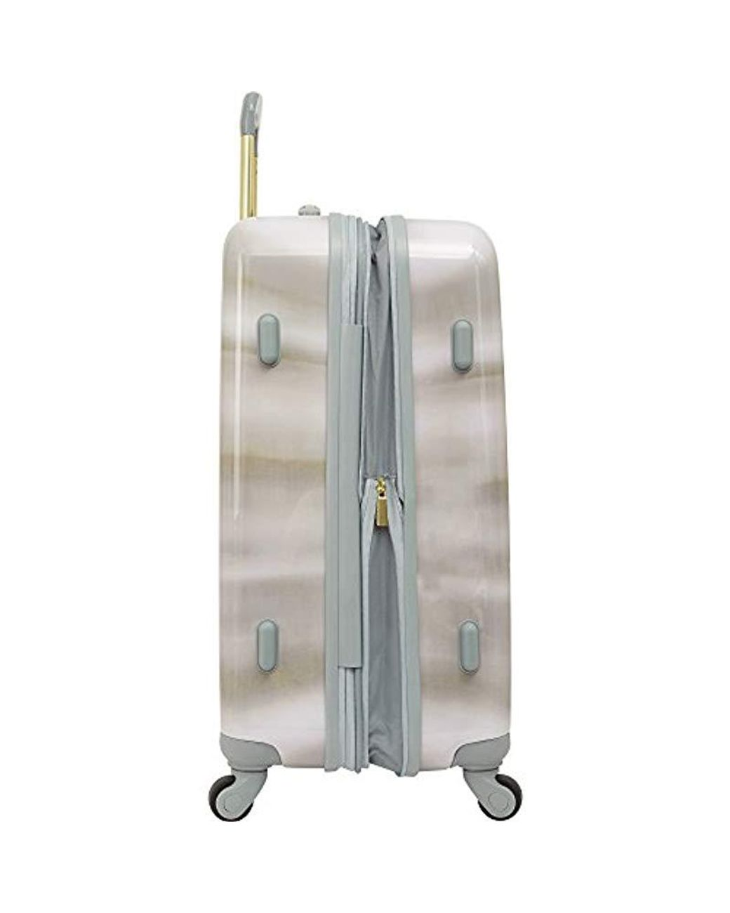 28 Inch Expandable Travel Bag Suitcase with Rolling Wheels and Hard Case Vince Camuto Hardside Spinner Luggage