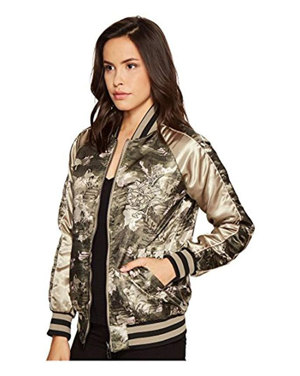 Members Only Womens Floral Blossom Reversible Souvenir Jacket