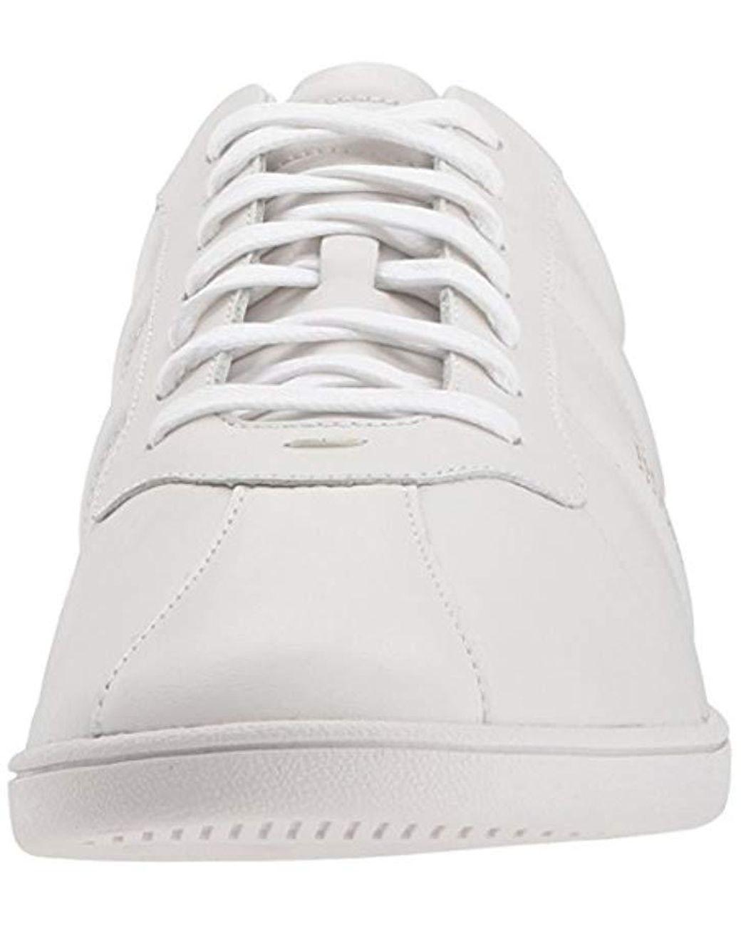 5bffe73d4bf BOSS Boss Orange Rumba Leather Tennis Sneaker Construction Shoe in White -  Save 20% - Lyst