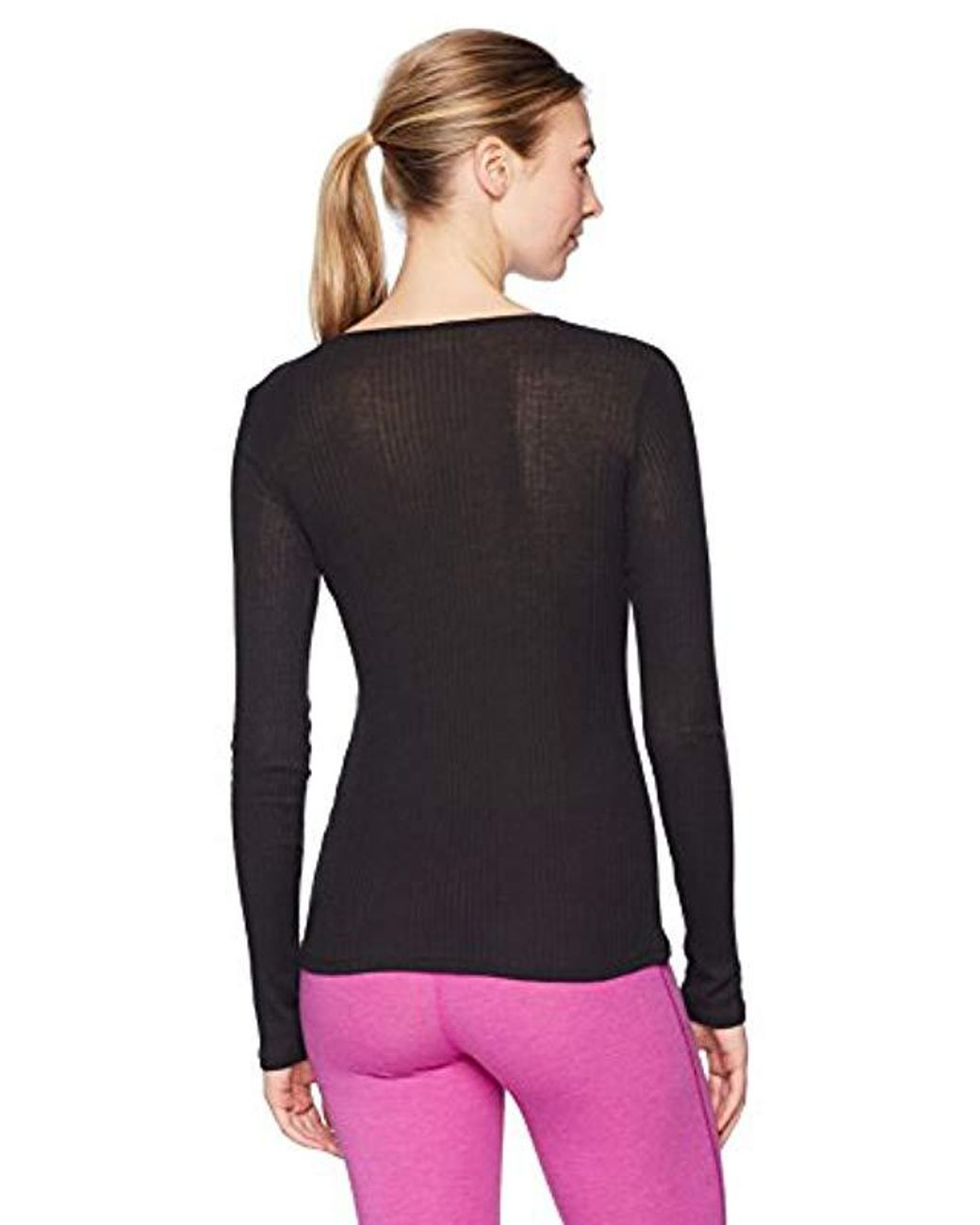 Alo Yoga Womens Interlace Long Sleeve Top
