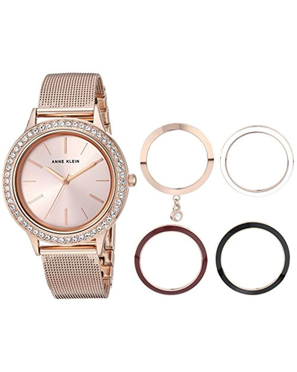 db551f34b57 Lyst - Anne Klein Bracelet Watch And Interchangeable Bezel Set in Metallic  - Save 26%