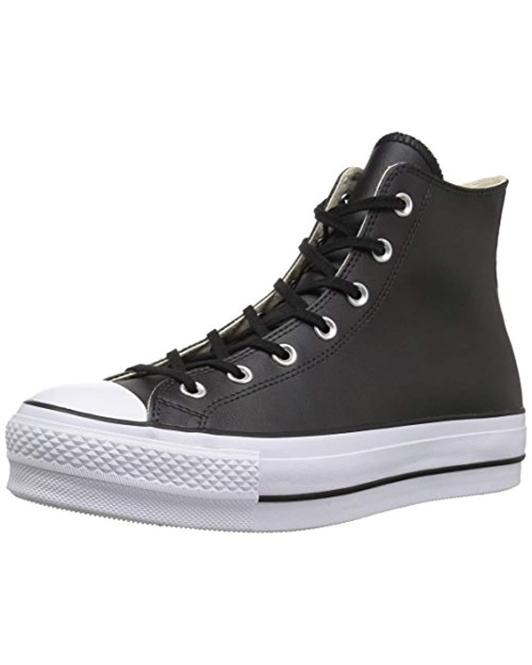bbb4c0747610 Lyst - Converse Chuck Taylor All Star Lift Clean High Top Sneaker in Black