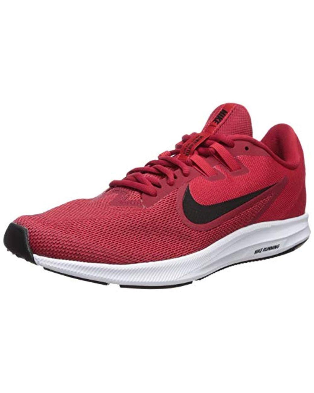 d3452ebcfbeb60 Nike. Men s Downshifter 9 Sneaker Gym Black-university Red-white ...