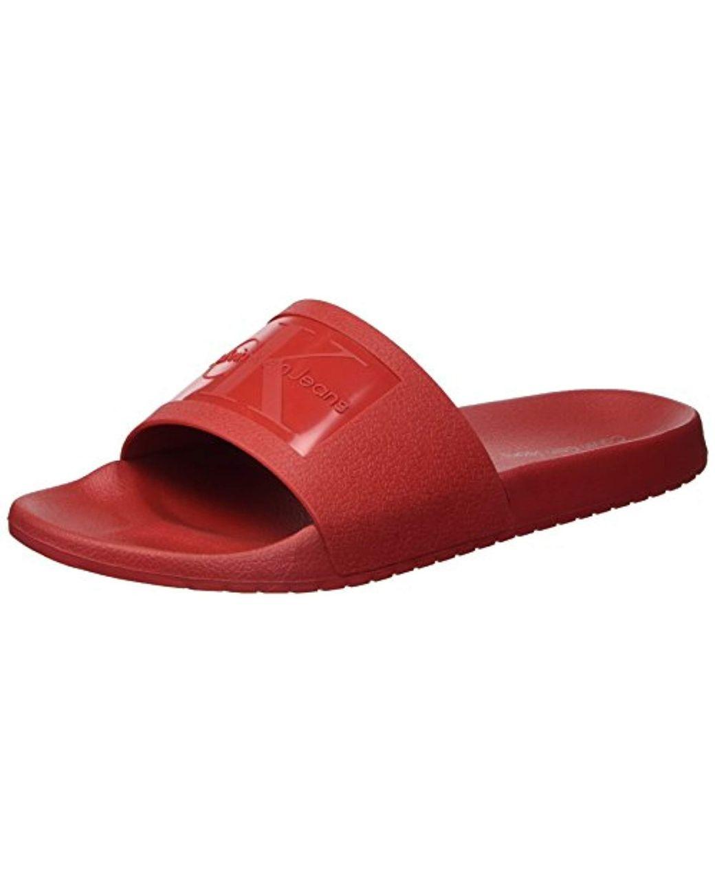 8b8f522e6941c Men's Red Vincenzo Jelly Slide Sandal