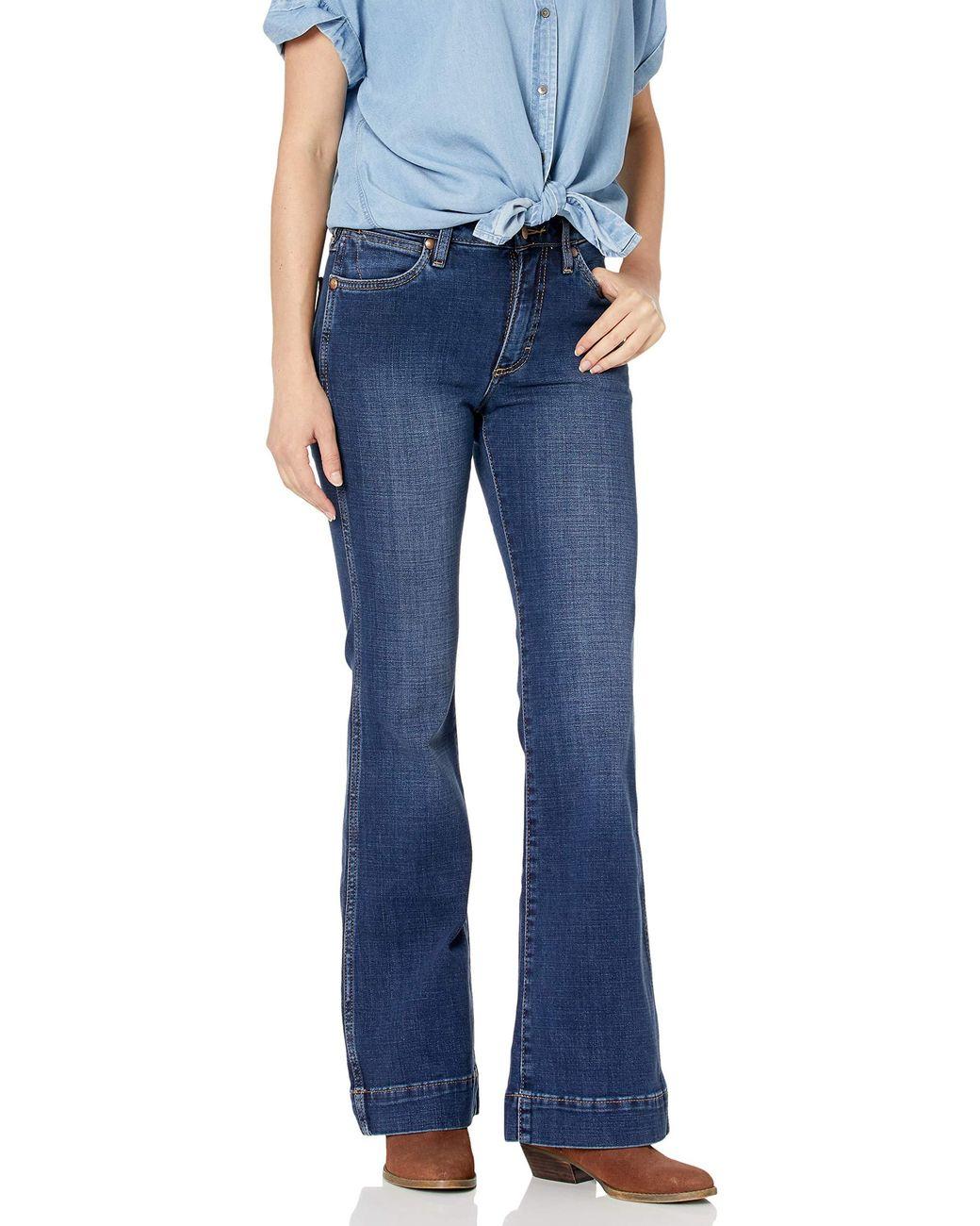 Wrangler Womens Retro Premium High Waist Trouser Jeans