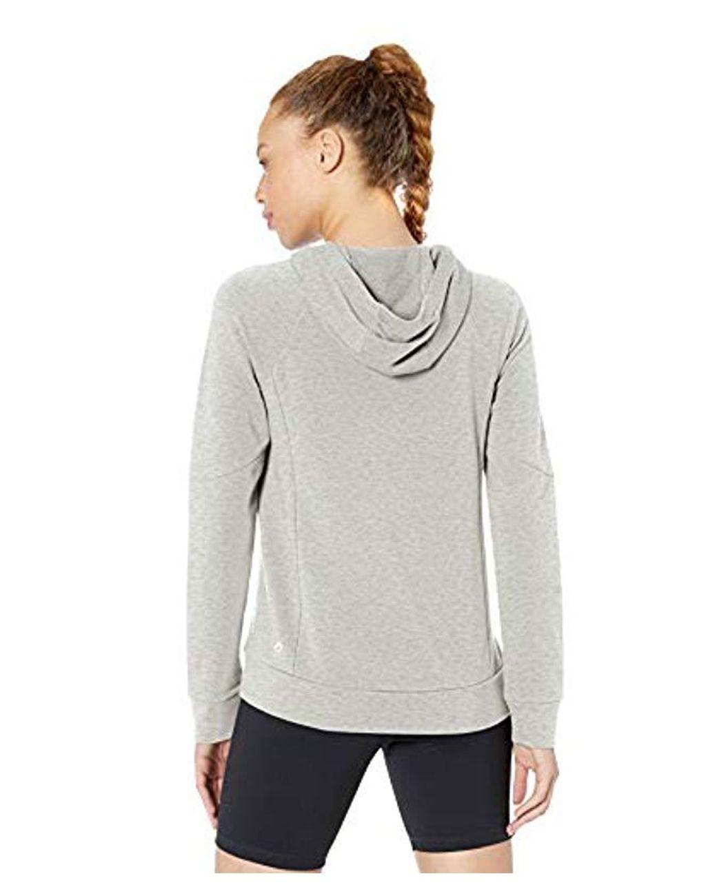 Soft Cotton Modal French Terry Fleece Workout Hoodie Sweatshirt Brand XS-3X Core 10 Womens