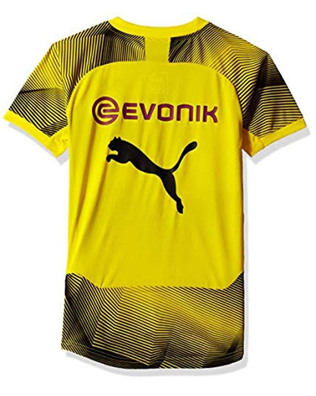 new style 3780c 5bcfc Men's Yellow Bvb Stadium Graphic Jersey Jr With Sponsor Logo